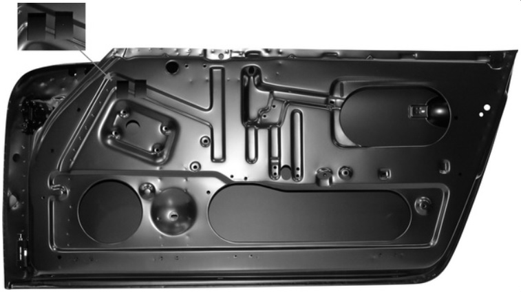 Dveře/komplet P - Porsche 911 (1968 » 72)