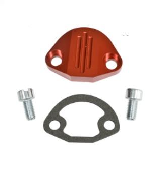 Záslepka čerpadla paliva/červené Alu/plná - Typ 1/3/CT/CZ/WBX motory (» 1992)