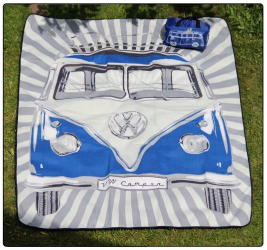Deka Split Bus/modrá (piknik)