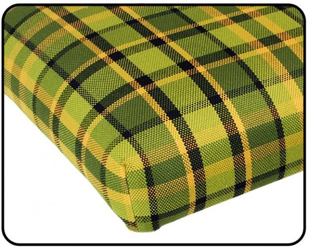Matrace zadní 1280mm/zelená/žlutá kostka - Typ 2 Westfalia (1967 » 79)