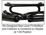 Výfuk dual QUIET PACK/černý/kit - Typ 1 motor (1.3-1.6)
