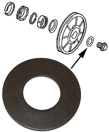 Podložka/šroub spodní řemenice - Typ 1/3/CT/CZ motory (» 2003)