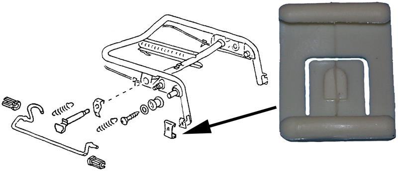 Pouzdro vedení sedadla L/P - Typ 1/3 (1972 » 80)