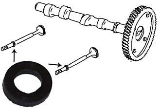 Těsnící kroužek dříku ventilu/8 mm - Typ 1/3/CT/CZ motory (1960 »)