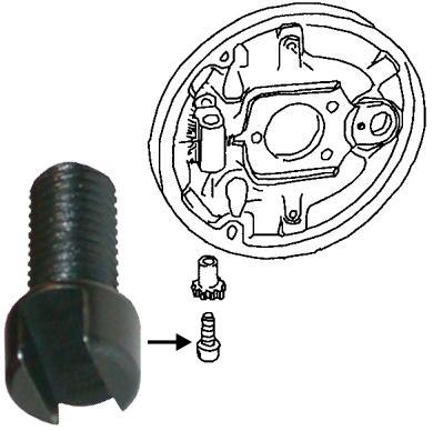 Šroub seřízení čelistí brzd P/Z - Typ 1/3/14/181 (1964 » 03)