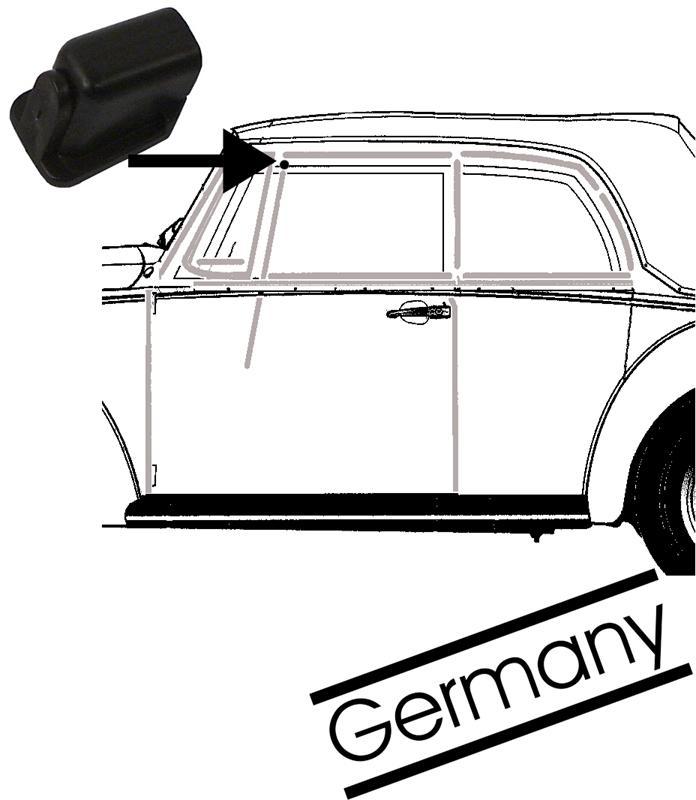 Doraz/sklo dveří ventilace L/P - T.1 Cabrio (1964 »)