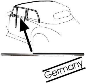 Sametka stahování skla dveří/vnější L - T.1 Cabrio (1964 » 80)