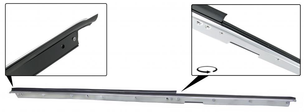 Sametka stahování skla dveří/vnější P - T.1 Cabrio (1964 » 80)