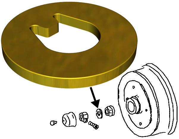 Podložka matice bubnu/kotouče/přední L/P - Typ 1/3/14/181 (1965 »)