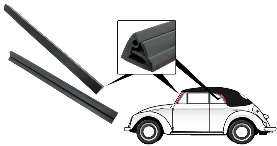 Těsnění sloupku dveří/okno ventilace+zadní rám - T.1 Cabrio (» 1964)