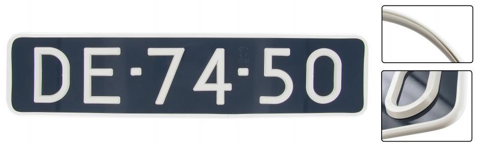 Lemovka SPZ/bílý vinyl (44.5x10.5cm)